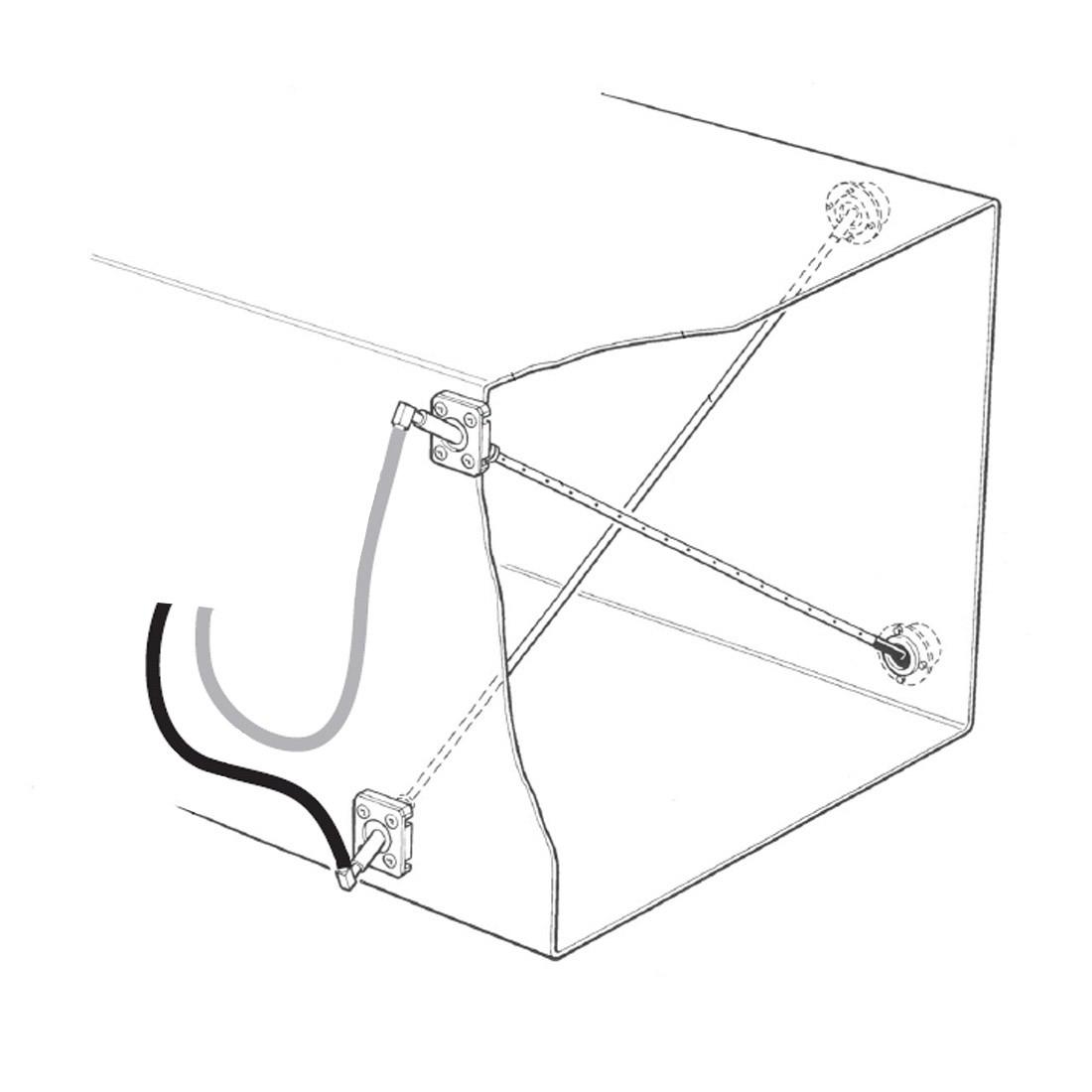 Messkreuz aus Edelstahl - für stationäre Volumenstrommessung
