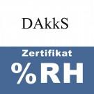DAkkS Zertifikat Feuchte (5 bis 95% rel. Feuchte ~22°C)